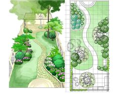 Love this back garden design/plan.