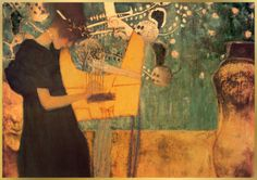 Gustav Klimt, Musique    3 or 8 pc canvas - andre saved it on dell favs