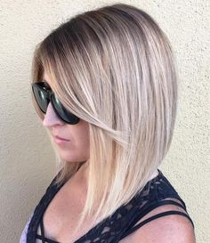 Angled Lob With Side Bangs