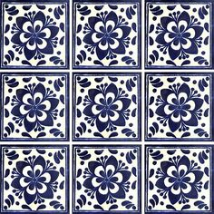 Mexican Talavera Tiles - Simple Designs