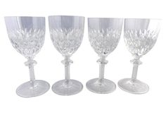 $129 - Gorham Crystal Wine Glasses, S/4
