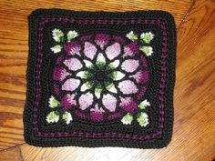 MAY PURCHASE PATTERN Stained Glass Afghan Square