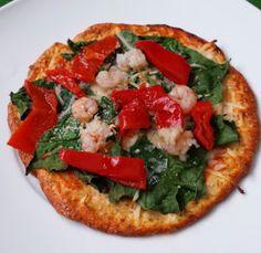 """Bueno, aquí os dejo esta nueva receta, es una buenísima manera de hacer """"pizza"""" con muchas menos kcal que las convencionales ya que no llev..."""