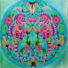 Inspirational Coloring Pages by Tatiane Cordeiro #inspiração #coloringbooks #livrosdecolorir #jardimsecreto #secretgarden #florestaencantada #enchantedforest #reinoanimal #animalkingdom #adultcoloring #johannabasford #lostocean #oceanoperdido