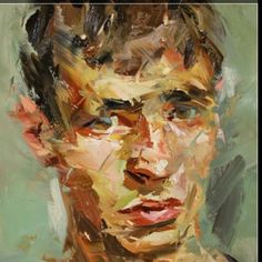 Palette knife portrait. Palette knife painting, figurative artists