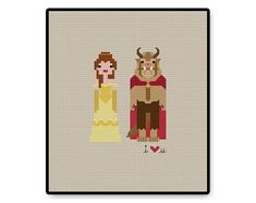 Belle and the Beast In Love - Ball Gown - Cross Stitch PDF Pattern