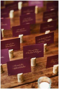 Wine Cork Escort Cards. EVOKE #Wedding www.evokedcblog.com www.evokedc.com Justine Ungaro Photography