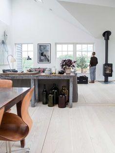 ATELIER RUE VERTE , le blog: Danemark / Un chalet avec de hauts plafonds /
