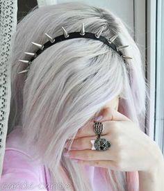Emo girl Source by JudieeCee Silver White Hair, Emo Scene Hair, Hair Supplies, Alternative Hair, Alternative Fashion, Fancy Hairstyles, Scene Hairstyles, Hairstyle Ideas, Hair Ideas