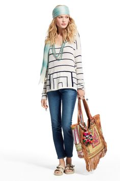 SPRING SALE! Enjoy an additional 50% off sale prices! Striped cashmere pullover sweater