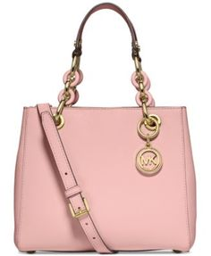 1027f3e9884f NWT Auth Michael Kors Saffiano Leather Selma Medium TZ Satchel Bag  ~Raspberry