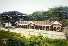 Kuala Lumpur - The Jalan Sultan Train Station. At this time there were hardly any motorcars as yet and China town area was probably serviced by bullock carts. Bullock Cart, Kuala Lumpur, Train Station, Original Image, Colonial, Chinese, History, House Styles, Classic
