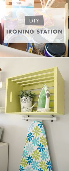 Looking for an easy DIY project to bring a splash of spring color into your home? Check out this colorful ironing station from Linda, of Craftaholics Anonymous. Linda painted this wooden crate with a playful shade of That's My Lime to create a stylish laundry station that gives you extra storage space and a fun pop of color too! Click here for the full tutorial.