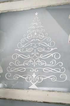christmas tree...this is just made from scroll fonts and cut from vinyl