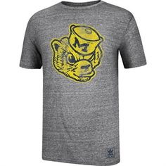 Michigan Wolverines Men's Adidas Grey Balboa II T-Shirt