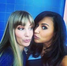 From the Set of Glee! Brittany and Santana ♥