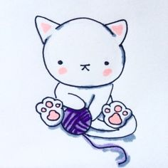 Cat drawings #kitty #copicsketch #inktober
