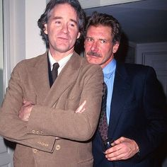 with Kevin Kline...and a moustache!