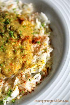 Lentejas al curry con leche de coco (#Asaltablogs) | ¡Con un par de guindillas!