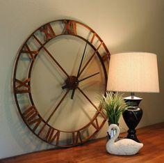 36 Wall Clock Rusty Industrial Steel/Metal by Keeriah on Etsy