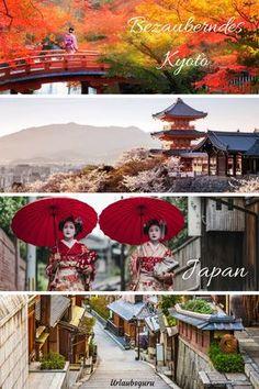 Enge, geheimnisvolle Gassen, Teehäuser mit Schiebetüren, Geishas in bunten Gewändern, und in der Ferne die geschwungenen Dächer riesiger Tempel. Hört sich nach einem Film über das alte Japan an? Falsch! All das könnt ihr noch heute in Japans wunderschöner Stadt Kyoto erleben. Taucht ein in eine Welt aus einer längst vergangenen Zeit. #japan #kyoto #geisha #bucketlist #magicalplace