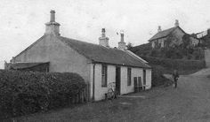 Tour Scotland Photographs: Old photograph of Allander Toll House cottage by Milngavie, Scotland.