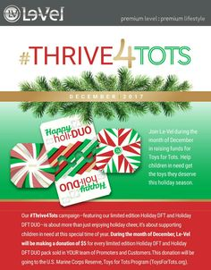 Help #children have a #Christmas with our #holiday edition products. Visit RedConrad.le-vel.com for details.