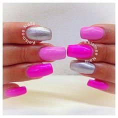 ManiQ Neon Pink by kelsmeeNails - Nail Art Gallery nailartgallery.nailsmag.com by Nails Magazine www.nailsmag.com #nailart