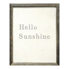 Found it at AllModern - Hello Sunshine Framed Painting Print