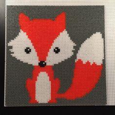 Fox hama perler beads by aslaugsvava