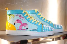 """These limited-edition Christian Louboutin """"Miami"""" sneakers are EVERYTHINGGGGG."""