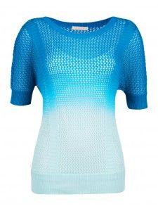 Ombré mesh top - Tops - Clothing