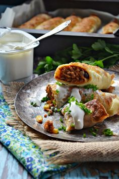 Baked Mexican pancakes (in Polish with translator) Pork Recipes, Mexican Food Recipes, Cooking Recipes, Ethnic Recipes, Savory Pancakes, Wrap Sandwiches, Appetisers, Soups And Stews, Appetizer Recipes