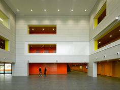 School in Dachau, interior and exterior cladded with EQUITONE facade materials.