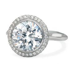 Ron Hami White Gold Bezel Set Nest Diamond Ring