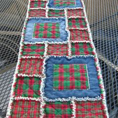 rag quilted table runner