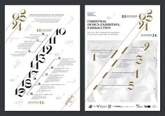 Graphic design for Design Terminal's Christmas design exhibition, fair and auction.