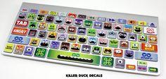 Little Monsters Macbook Keyboard Skin by killerduckdecals on Etsy, $12.00