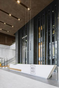 View the full picture gallery of Business Centre Neo Geo Public Areas Interiors Lobby Interior, Office Interior Design, Office Interiors, Office Designs, Office Building Lobby, Office Lobby, Office Entrance, Office Reception Design, Lobby Reception
