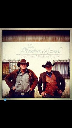 Walt Longmire and Lucian Connally of Absaroka County, WY Robert Taylor and Peter Weller