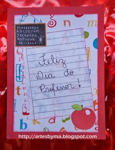 artes by Má: Dia dos Professores = cartão artesanal