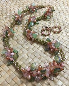 """""""Jardin"""", which means """"garden"""" in French, is the perfect name for this lovely beaded kumihimo necklace"""