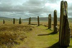 A very nice shot of some of the remaining stones of the Ring of Brodgar, Orkney.