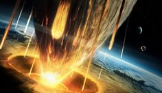 A graphical representation of an asteroid clashing against earth. An asteroid is…