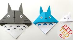 Easy Totoro Bookmark - Origami - Paper Crafts More
