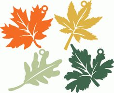 Silhouette Design Store - View Design #95263: hanging leaves