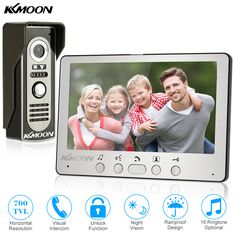 KKmoon 7'' TFT LCD Wired Video Door Phone System Visual Intercom Doorbell Indoor Monitor 700TVL Waterproof Outdoor IR Camera