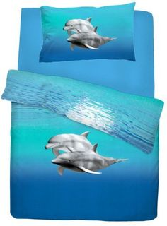 Single Bed Dolphin Duvet / Quilt Cover Quality Bedding Set Blue Sea Animal Printed, http://www.amazon.co.uk/dp/B00CS384SM/ref=cm_sw_r_pi_awd_8lXetb1MXYD06