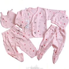 c7101b63e72 Baby Clothes Set For New Born Baby (5 items) - Pink New Born Clothes
