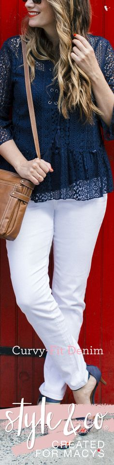Once the warmer weather hits, it's time to pull out your white jeans! The Style and Co Curvy-Fit Jean merges comfort and tradition to create the must-have piece of the season. Purchase yours at macys.com/styleandco